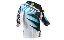 Fly Racing Kinetic Mesh Jersey Men blau/weiß